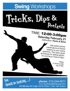 Tricks, Dips, Pretzels Silhouette 8X10