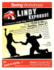 Lindy Hop EXPRESS June 21 8X10