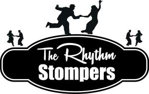 Rhythm Stompers Logo Concept B&WOvalShip