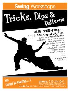 Tricks, Dips, Patterns AUG 8X10