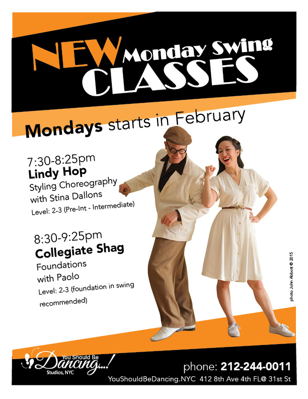 New Classes Mondays 2016 8X10