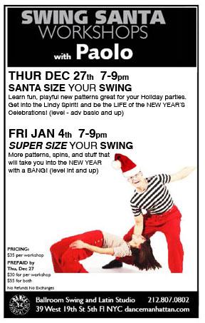 Swing Santa workshops